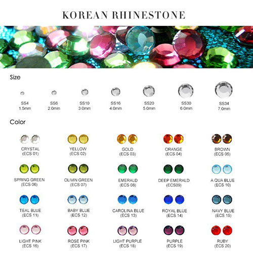 korean rhinestones
